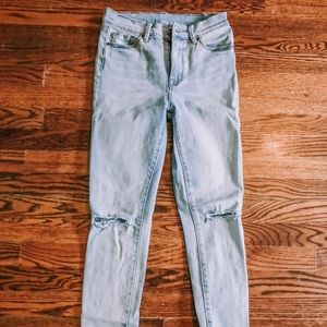 Frayed urban outfitters blue jeans BDG